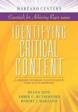 IDENTIFYING CRIT - AMBER C. RUTHERFORD, ET AL. ROBERT J. MARZANO (PAPERBACK) NEW