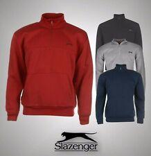 Mens Slazenger Fleece Sweatshirt Quarter Zip Top Sizes S M L XL XXL XXXL XXXXL