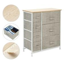 Bedroom Storage Dresser Tower Shelf Organizer Bins Cabinet Fabric with 7 Drawers