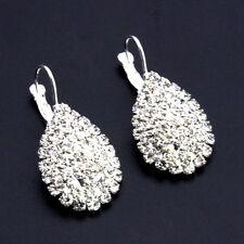 Dangle Earrings Ear Studs Bling Dazzling Jewelry Silver Women Crystal Rhinestone