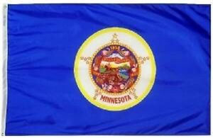 State of Minnesota 4x6 Foot Flag Banner (150D Super Polyester)