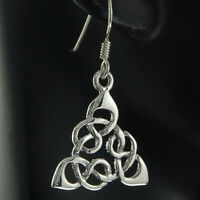 Celtic Trinity Knot Sterling Silver Earrings, Irish Jewelry, ep105