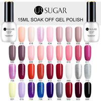 UR SUGAR 15ml Nail UV Gel Polish Soak off Nail Art Gel Varnish Top Base Coat