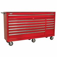 Sealey Heavy-duty ROLLCAB 12 Drawer With Ball Bearing Runners Red 160kg AP6612