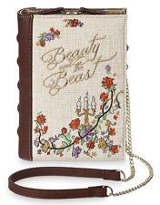 Disney Beauty & The Beast Book Crossbody Clutch Storybook Shoulder Bag - NWT