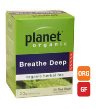 4 x 25 bags PLANET ORGANIC Organic Herbal BREATHE DEEP Tea (100 bags)
