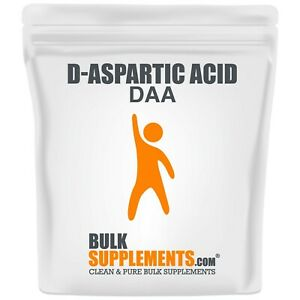 BulkSupplements.com D-Aspartic Acid Powder and Capsules - Testosterone Booster