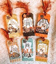 Set of 6 Hang Tags~Fall~Autumn~Owl's~Gift Tags~Scrapbooking~Card Making~#70R