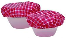 Kitchen Craft Elasticated Reusable Plastic Bowl Covers Set of 7 Home Household