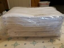 LOT of 6 WHITE QUEEN SIZE HOTEL GRADE FITTED SHEETS ELITE 103616