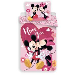 Mickey Minnie Mouse Disney  polyester Bettwäsche Garnitur Reißverschluss #19