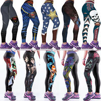 Women 3D Printed Yoga Pants Fitness Leggings Running Exercise Sports Trouser