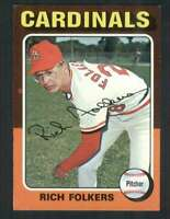 1975 Topps #98 Rich Folkers EX/EX+ Cardinals 67981