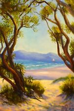 Original Australian landscape Oil Painting Whitsundays Island QLD by Vidal