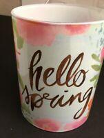 Scentsy Warmer-Hello Spring-Warmer Shade-Trivet-Warmer Dish-Bulb-Base sold separ
