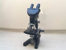 Vintage Leitz Binocular Microscope With 3 Objectives & 5 Eyepieces