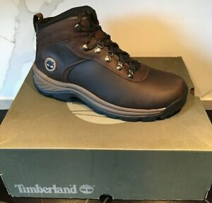 NEW! Timberland WATERPROOF TB018128 Flume Mid Brown Hiking Boots MENS Wide Sizes