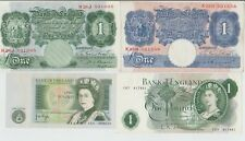 ENGLISH ONE POUND BANK NOTES 1940 TO 1981,EF/NEF CONDITION,PICK YOUR OWN CASHIER