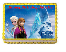 Frozen Ana Elsa Edible Cake Topper Party Image Icing Frosting sheet Decoration