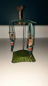 """1920's Tin  Carousel Trapeze Artist  Circus  Wind up  Made in Germany 7"""""""