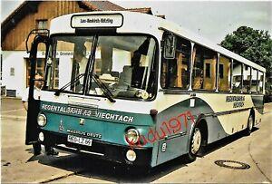 M105) Bus Foto Magirus Deutz. Regentalbahn. REG-LZ 69.  Lam Neukirch Kötzling 84