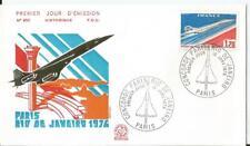 Enveoppe premier Jour - FDC -  Aviation - 1976 Concorde Paris Rio de Janeiro
