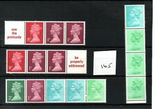 GB - MACHIN  (165) - BOOKLET & /or COIL STAMPS -  selection - mint