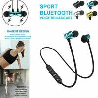 Magnetic Wireless Bluetooth Earphone Sports Headphone In-Ear Stereo Mic Headsets