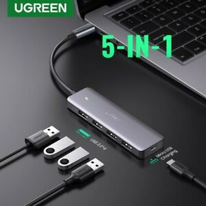 Ugreen Type C Hub 5 in 1 USB C to USB 3.0 Port 5 Gbps Adapter Data Laptop Mac