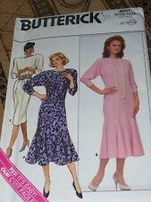 BUTTERICK #4027-LADIES DAY or EVENING WAISTLESS DRESS w/TULIP HEM PATTERN 6-10FF