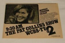 1973 CBS WCBS tv ad ~ the PAT COLLINS show ~ new show for the new woman