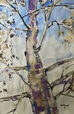 JOSE TRUJILLO - Impressionist 30x40 Large Modern Acrylic Tree Nature Collectible