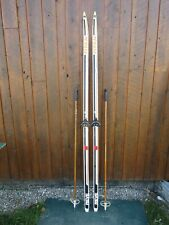 """Ready to Use Cross Country 81"""" Long TITAN 210 cm Skis +  Poles"""