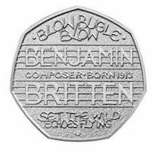 """Benjamin di Brittain 50p Coin """"Blow Bugle BLOW"""" 2013 RARA ~ DA COLLEZIONE"""