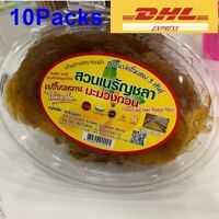 10Packs Mango Dried Sheet Chewing Thai Fruit snack Sweet&Sour 200g. Delicious