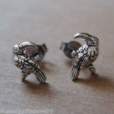 Toucan Earrings - 925 Sterling Silver - Toucan Parrot Bird Tropical Posts NEW