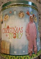 A Christmas Story Ralphie Movie NEW SEALED Popcorn Tin Leg Lamp Fragile !!