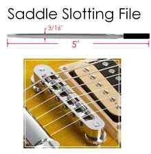 MusicianAtHeart SADDLE SLOTTING FILE Tune-O-Matic Bridge Luthier Tool Les Paul..