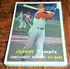 REDS SET: 1957 TOPPS SMOKY BURGESS, JOHNNY TEMPLE, NUXHALL, BAILEY, POST, BELL +