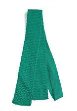 Ralph Lauren Chaps Teal Square Tip Woven Cotton Neck Tie