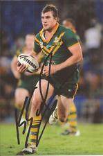 AUSTRALIA KANGAROOS RUGBY LEAGUE * KADE SNOWDON SIGNED 6X4 ACTION PHOTO+COA