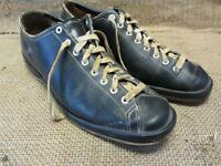 Vintage Avonite Bowling Shoes > Antique Leather Football Sports Ball Bowl 7749