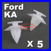 FORD KA BUMPER CLIPS TRIM PLASTIC FIXING FRONT REAR X5 FASTENER