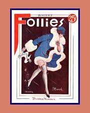 """A 10"""" x 8"""" Art Deco Print - Titled Burten's Follies - Divorce Number"""