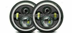 "AMERICAN MOTORS AMC 1968-78 Classic Cars Dot E Marked Led Headlight DRL 7"" Inch"