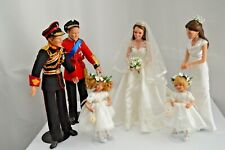 Danbury Mint- Ashton Drake Prince William & Kate Wedding Party Dolls set of 6