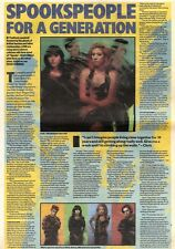 25/1/92Pgn31 Article & Picture spookspeople For A Generation Lush Talk Debut Alb