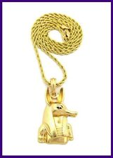 "Hip Hop Egypt Egyptian Pendant Gold Rope Chain 24"" Necklace Anubis Animal"