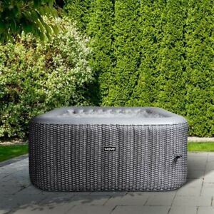 Wave Spa Pacific Grey Rattan Square Inflatable Hot Tub|PLEASE READ DESCRIPTION🤩