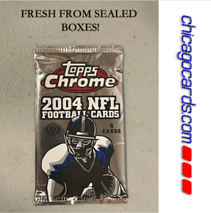 2004 Topps Chrome HOBBY Pack Look4 Roethlisberger Manning Rookie AUTO Refractor